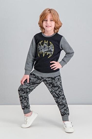 Batman Batman Lisanslı Petrol Erkek Çocuk Eşofman Takımı Gri